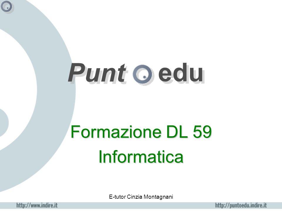 E-tutor Cinzia Montagnani portfolio attività Questa sezione si aprirà appena saranno iniziate le attività da ciascun corsista