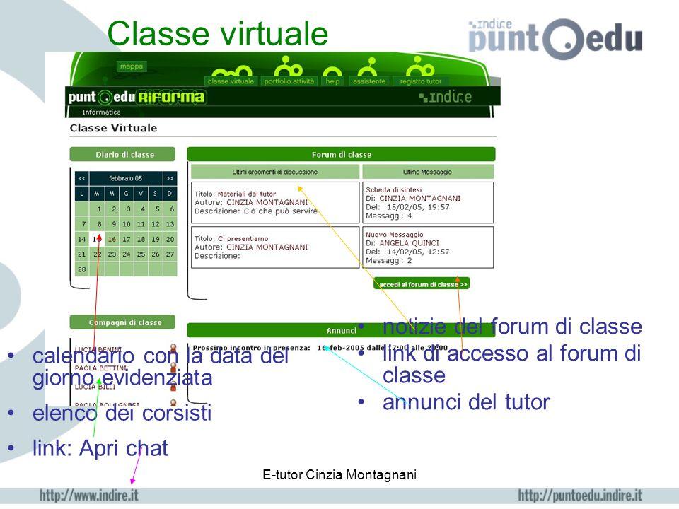E-tutor Cinzia Montagnani logout Cliccando si esce dalla piattaforma. È importante cliccare su questo pulsante invece di chiudere semplicemente la fin
