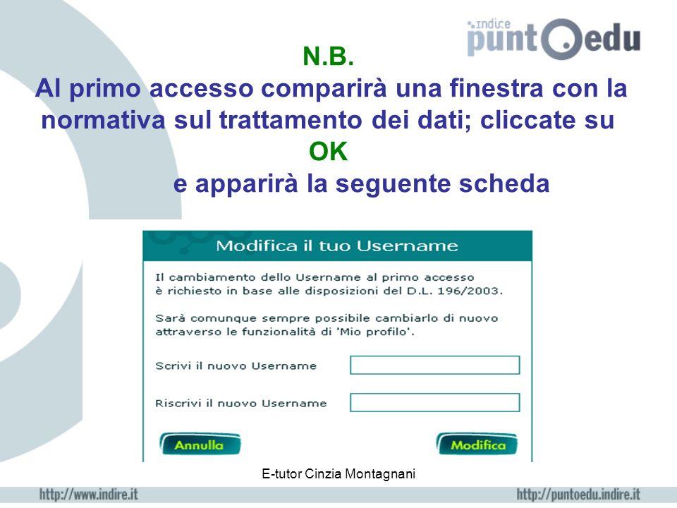 E-tutor Cinzia Montagnani help Cliccando, si apre la finestra di posta con la quale si può chiedere aiuto ad INDIRE per qualsiasi problema di carattere tecnico