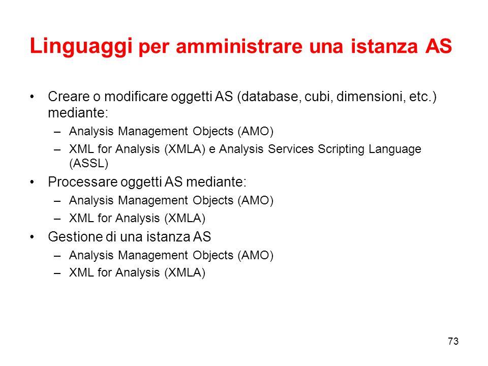 Introduzione alla programmazione in Analysis Services 2005 Sessione 6