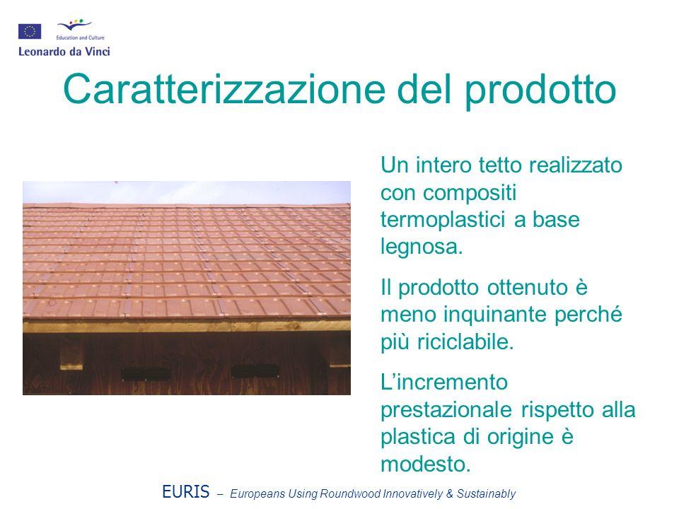 EURIS – Europeans Using Roundwood Innovatively & Sustainably Caratterizzazione del prodotto Un intero tetto realizzato con compositi termoplastici a base legnosa.