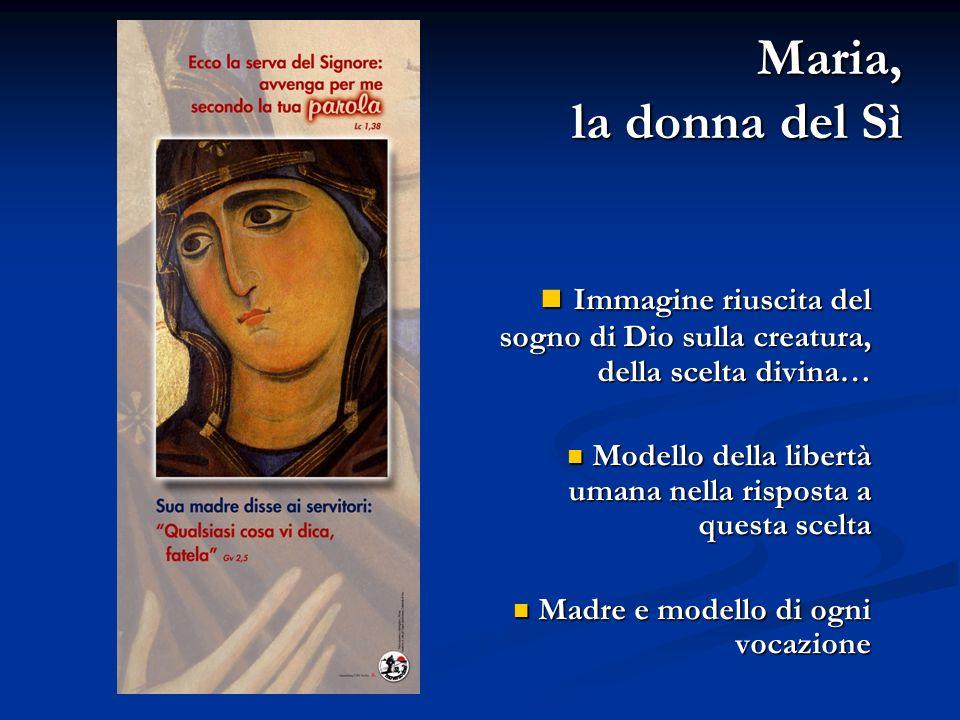 Maria, la donna del Sì Immagine riuscita del sogno di Dio sulla creatura, della scelta divina… Immagine riuscita del sogno di Dio sulla creatura, dell