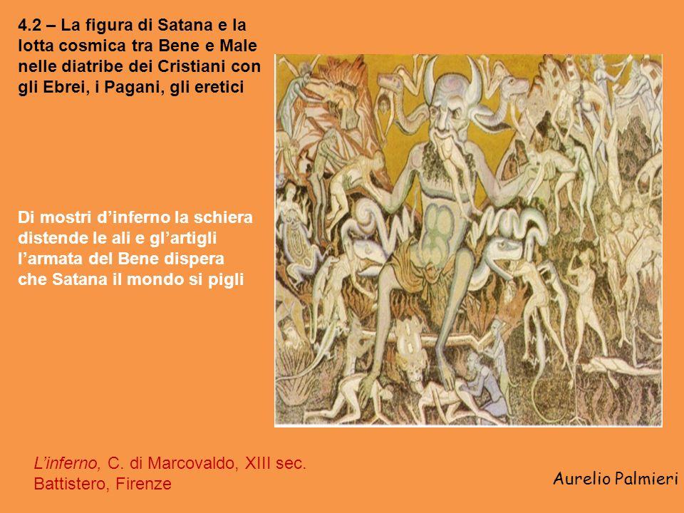 Aurelio Palmieri 4.1 – Unde malum? Il mondo sacralizzato e demonizzato Hortus Deliciarum, scene dinferno, miniatura, H. di Hohenbourg, 1175 ca. Del ma