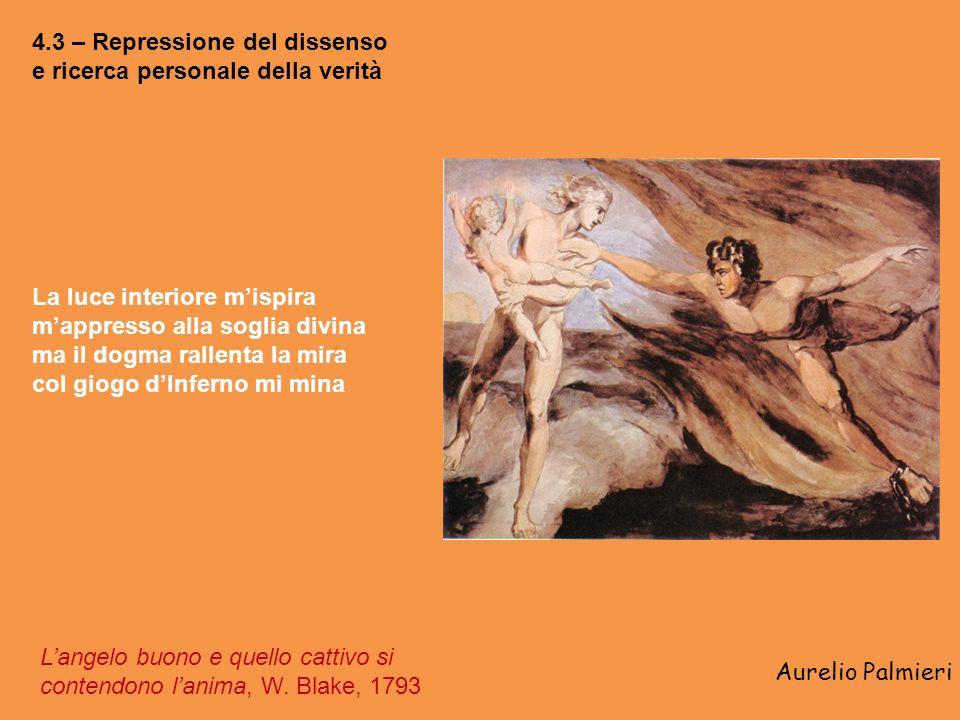 Aurelio Palmieri 4.3 – Repressione del dissenso e ricerca personale della verità Langelo buono e quello cattivo si contendono lanima, W.
