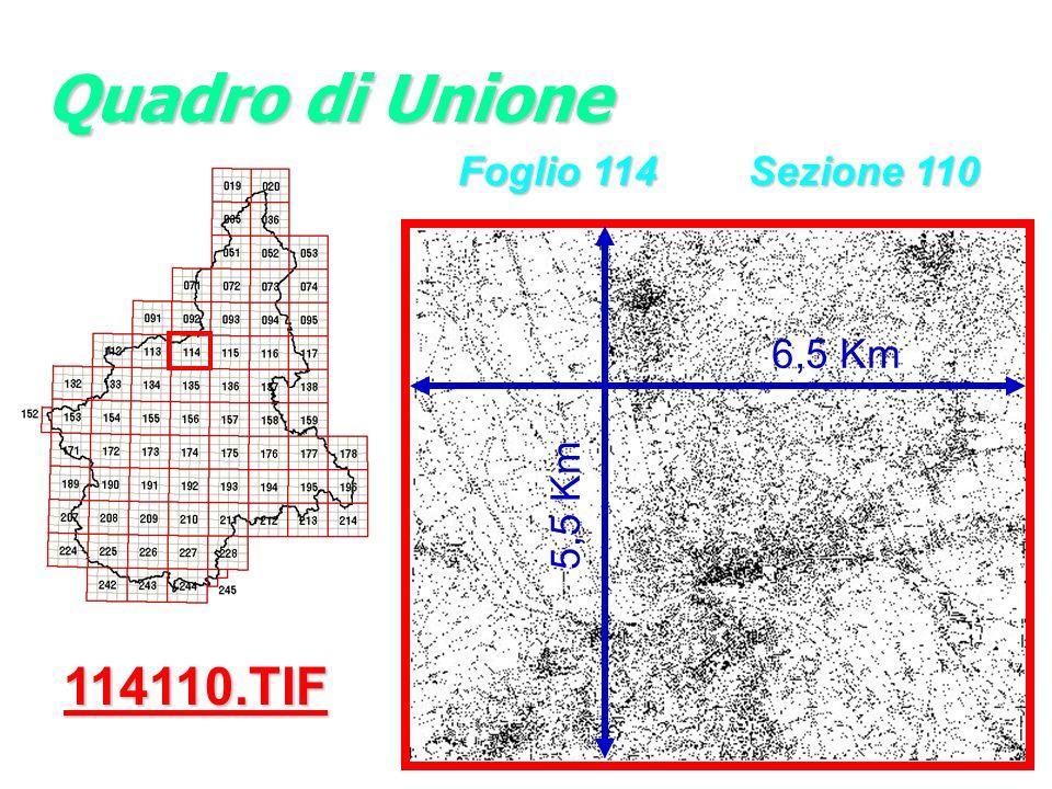 114110.TIF 6,5 Km 5,5 Km Quadro di Unione Foglio 114 Sezione 110