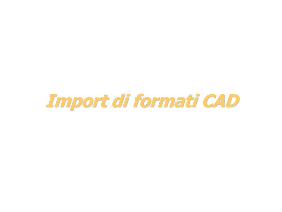 Import di formati CAD