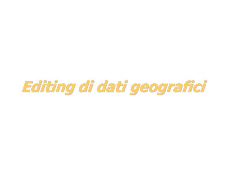 Editing di dati geografici