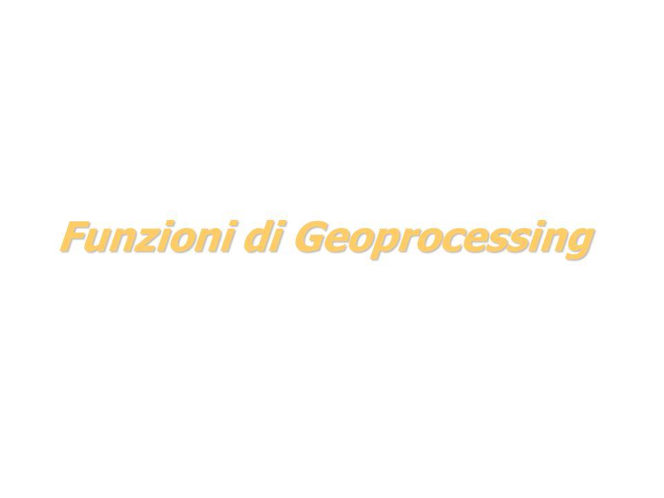 Funzioni di Geoprocessing