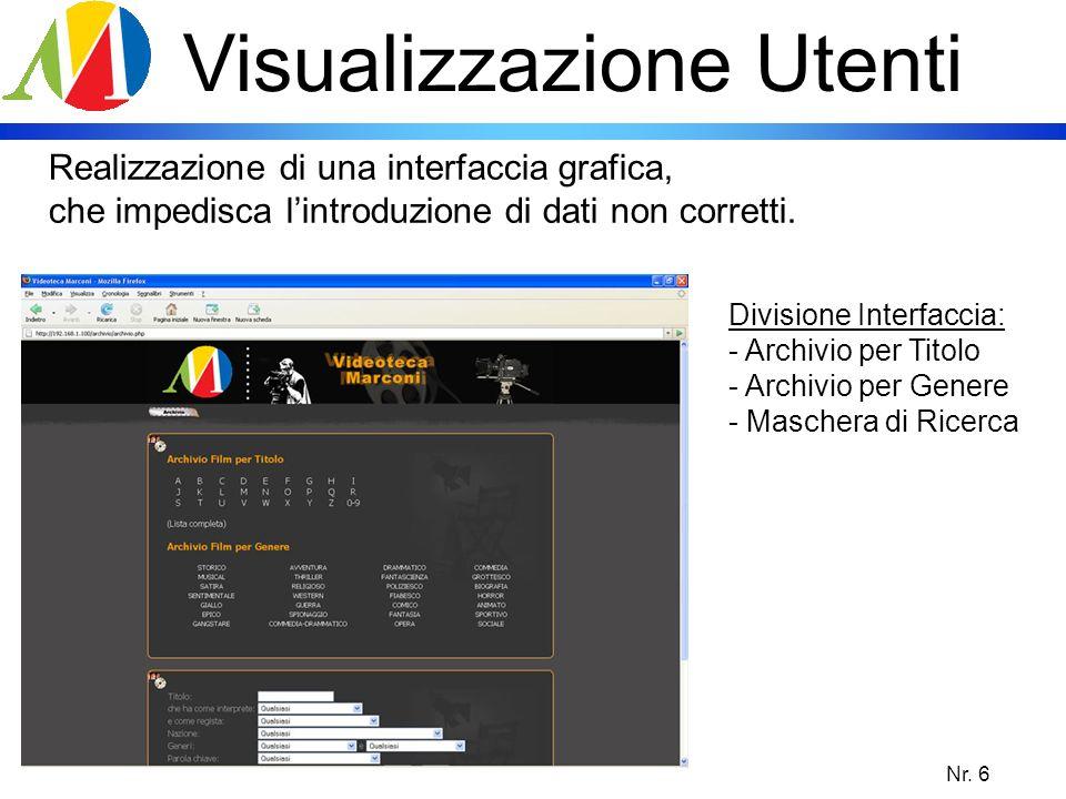 Nr. 7 Visualizzazione Utenti Ricerca rapida su amplia scala.