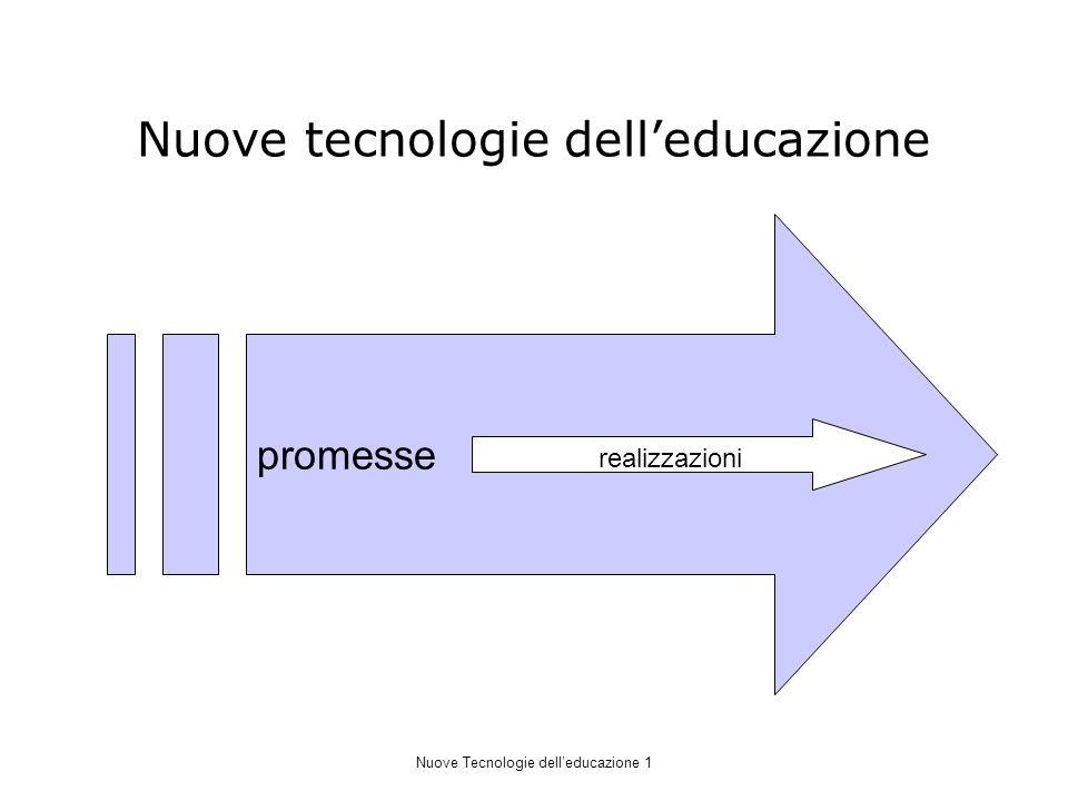 Nuove tecnologie delleducazione promesse realizzazioni Nuove Tecnologie delleducazione 1