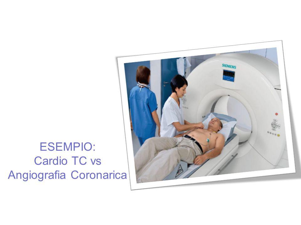 ESEMPIO: Cardio TC vs Angiografia Coronarica