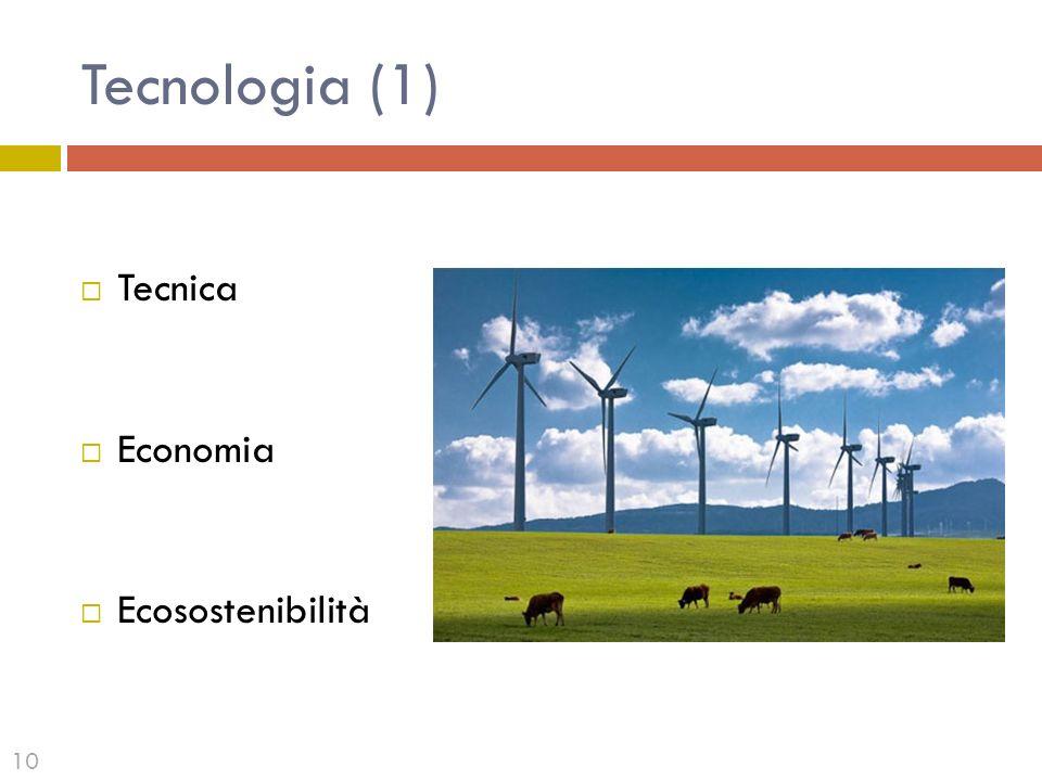 Tecnologia (1) Tecnica Economia Ecosostenibilità 10