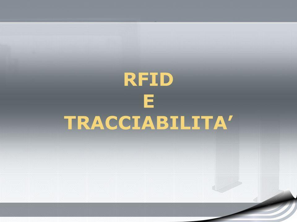 RFID E TRACCIABILITA
