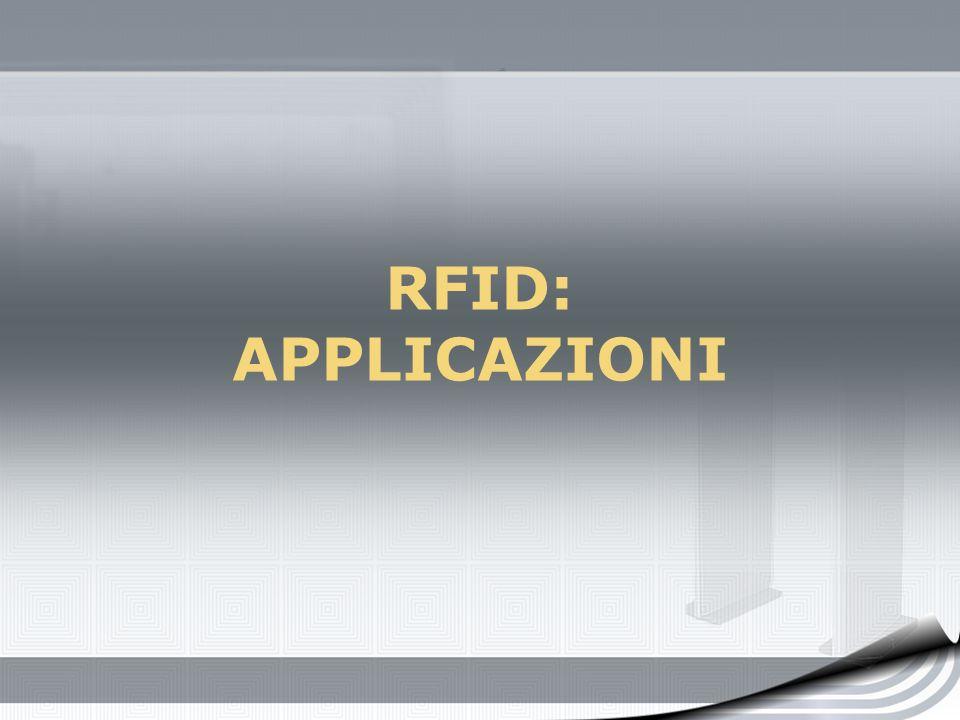 RFID: APPLICAZIONI