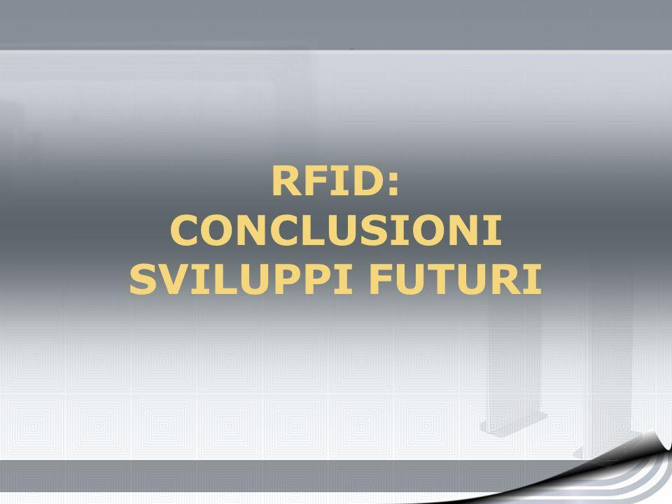 RFID: CONCLUSIONI SVILUPPI FUTURI