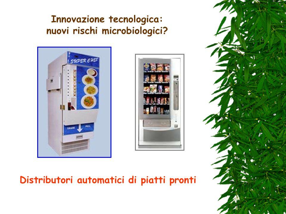 Innovazione tecnologica: nuovi rischi microbiologici? Distributori automatici di piatti pronti