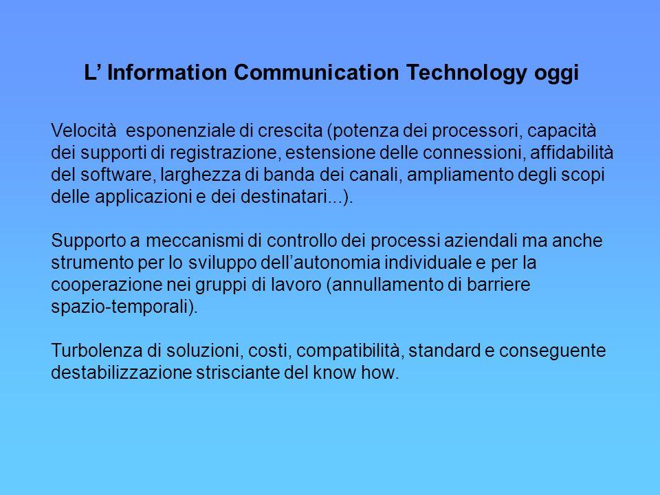 La più ambiziosa prospettiva dell Information Communication Technology è quella di proporre applicazioni fondate sulla analisi delle imprese dal punto di vista delle relazioni che i loro membri intessono nello svolgimento delle attività.