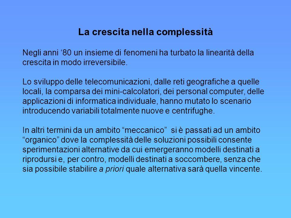 Internet in Italia Crescita del numero di utenti 1997-2001 (migliaia) In passato la rete in Italia si era sviluppata soprattutto negli uffici.