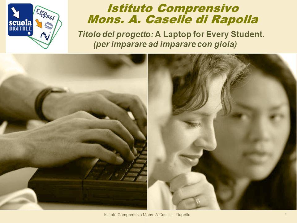 Istituto Comprensivo Mons.A.Caselle - Rapolla1 Istituto Comprensivo Mons.
