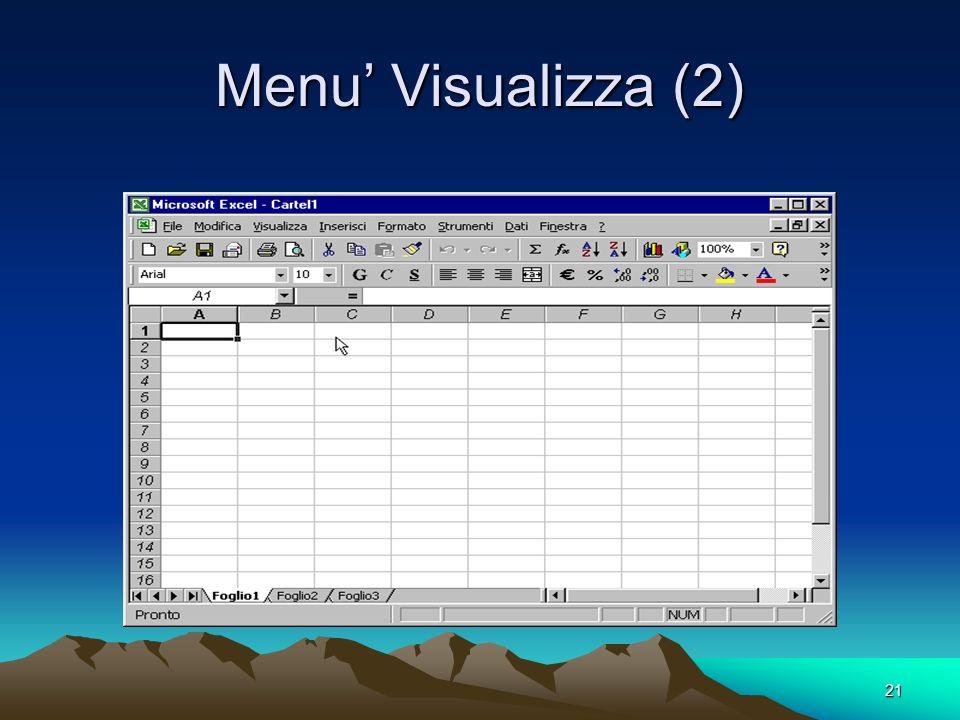 21 Menu Visualizza (2)