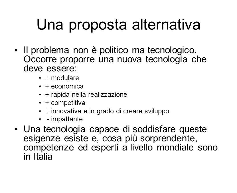 Una proposta alternativa Il problema non è politico ma tecnologico.