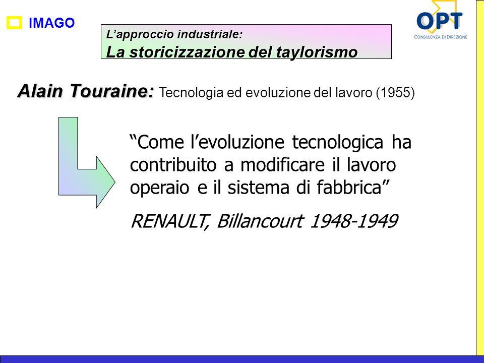 IMAGO Alain Touraine: Alain Touraine: Tecnologia ed evoluzione del lavoro (1955) Come levoluzione tecnologica ha contribuito a modificare il lavoro op