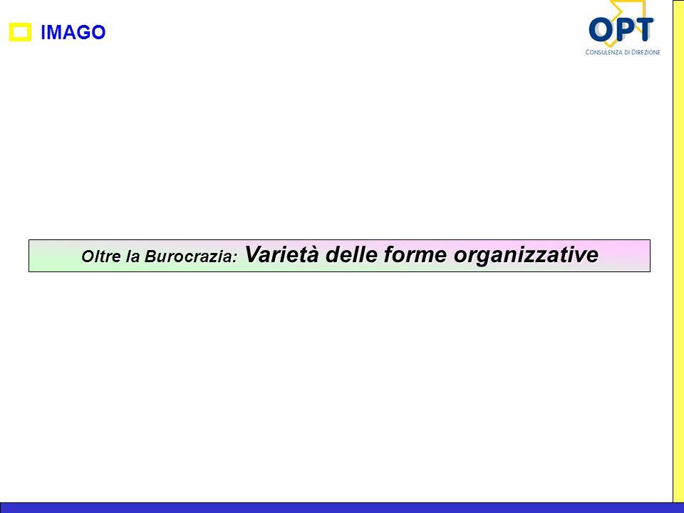 IMAGO Oltre la Burocrazia: Varietà delle forme organizzative