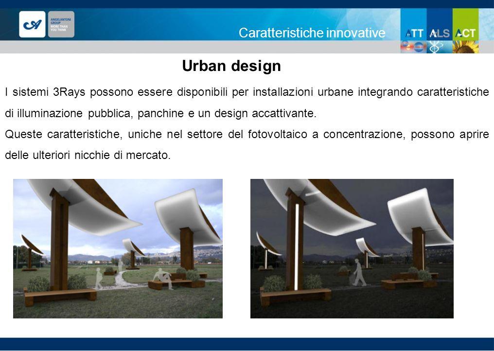 Caratteristiche innovative I sistemi 3Rays possono essere disponibili per installazioni urbane integrando caratteristiche di illuminazione pubblica, p