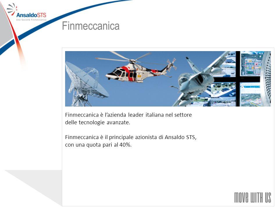 22 Finmeccanica è lazienda leader italiana nel settore delle tecnologie avanzate.