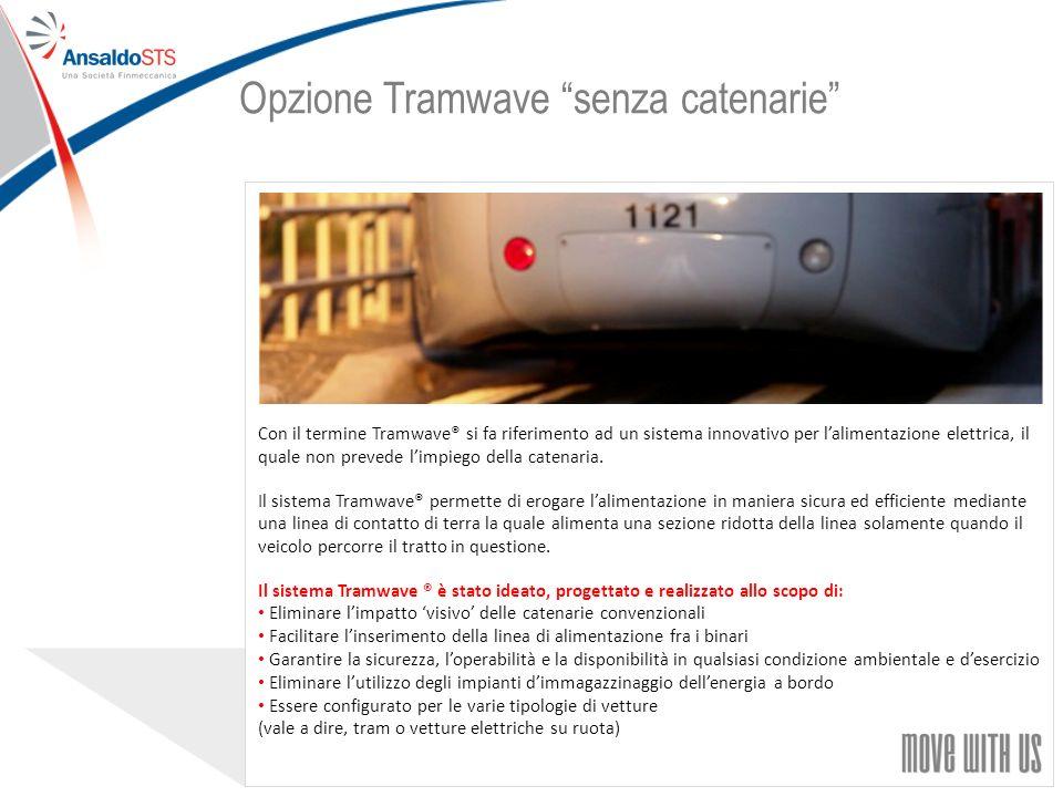 32 Con il termine Tramwave® si fa riferimento ad un sistema innovativo per lalimentazione elettrica, il quale non prevede limpiego della catenaria.