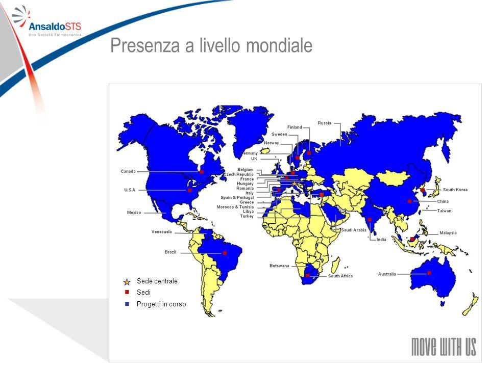 99 Presenza a livello mondiale Sede centrale Sedi Progetti in corso