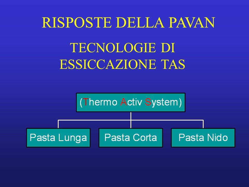 RISPOSTE DELLA PAVAN TECNOLOGIE DI ESSICCAZIONE TAS