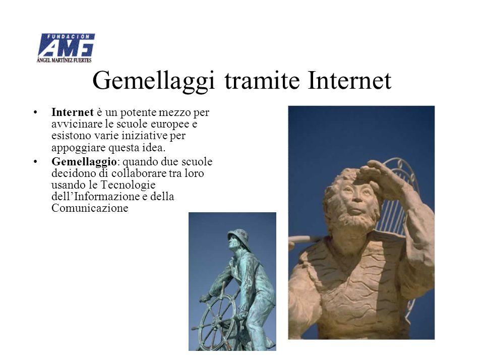 Gemellaggi tramite Internet Internet è un potente mezzo per avvicinare le scuole europee e esistono varie iniziative per appoggiare questa idea.