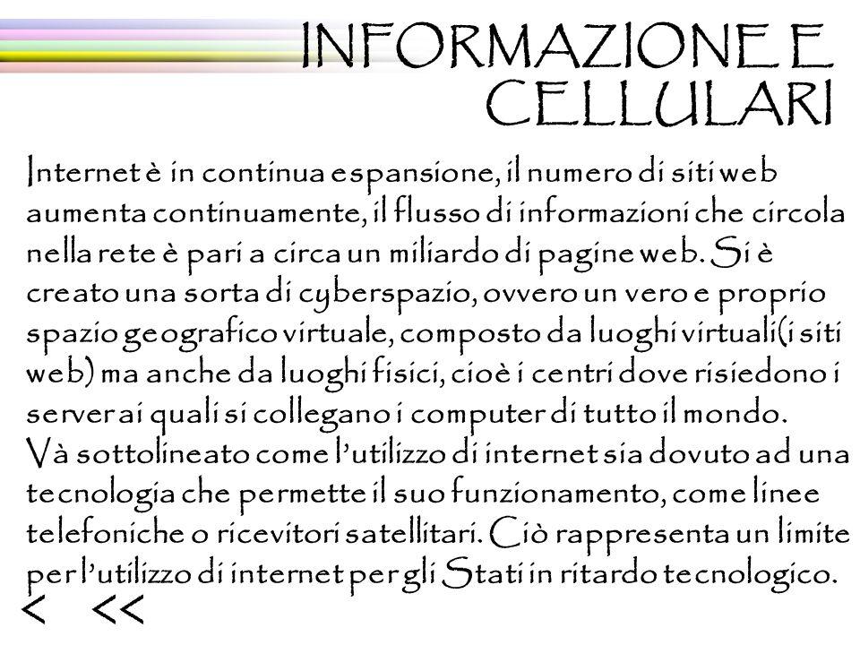 Internet è in continua espansione, il numero di siti web aumenta continuamente, il flusso di informazioni che circola nella rete è pari a circa un miliardo di pagine web.