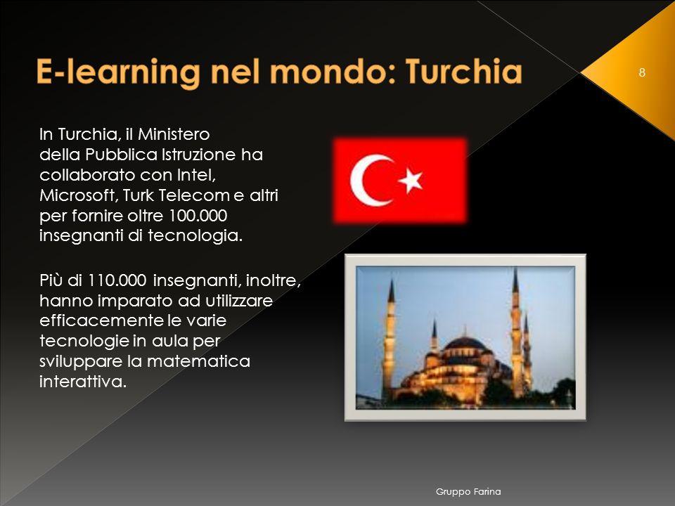8 In Turchia, il Ministero della Pubblica Istruzione ha collaborato con Intel, Microsoft, Turk Telecom e altri per fornire oltre 100.000 insegnanti di tecnologia.