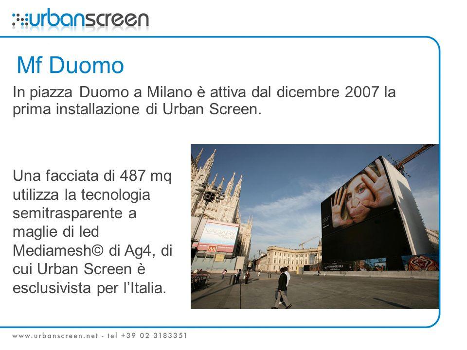 Mf Duomo In piazza Duomo a Milano è attiva dal dicembre 2007 la prima installazione di Urban Screen.