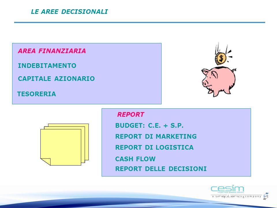 Decisioni: Area finanziaria e Report CAPITALE AZIONARIO INDEBITAMENTO AREA FINANZIARIA TESORERIA BUDGET: C.E.