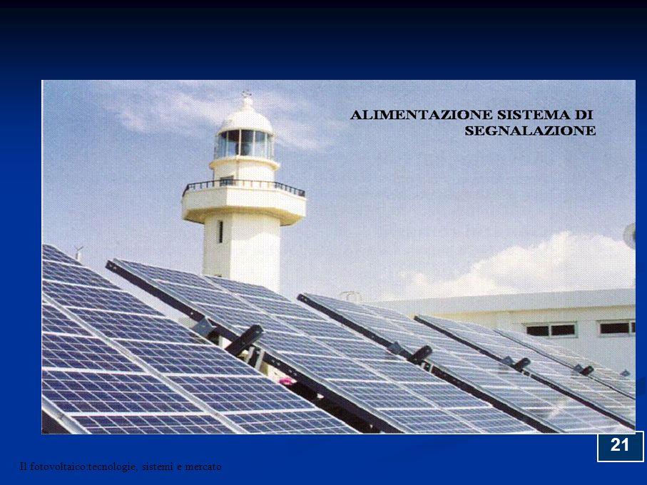 21 Il fotovoltaico:tecnologie, sistemi e mercato