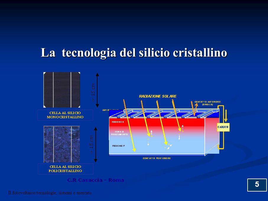 26 Il fotovoltaico:tecnologie, sistemi e mercato