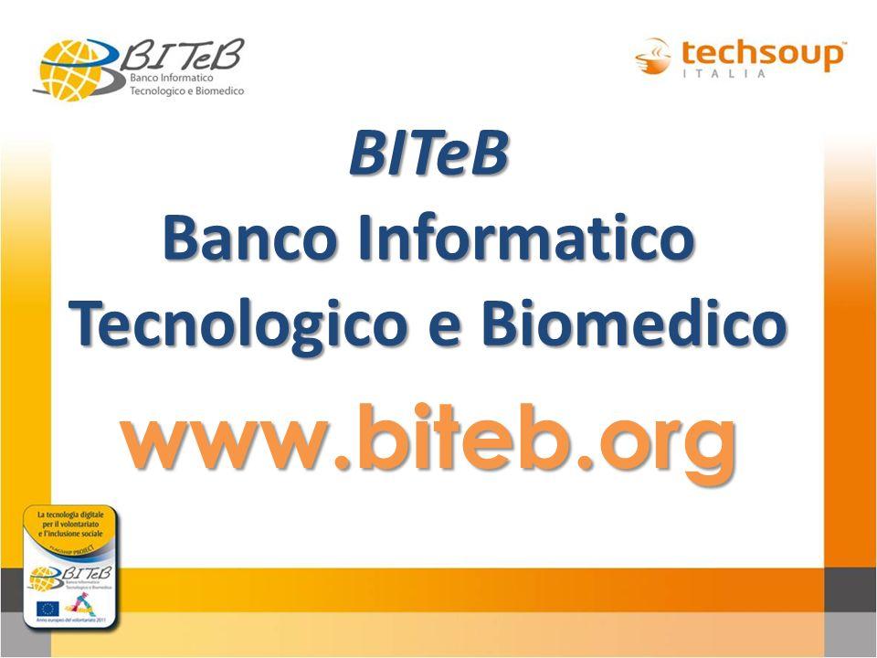 BITeB Banco Informatico Tecnologico e Biomedico www.biteb.org