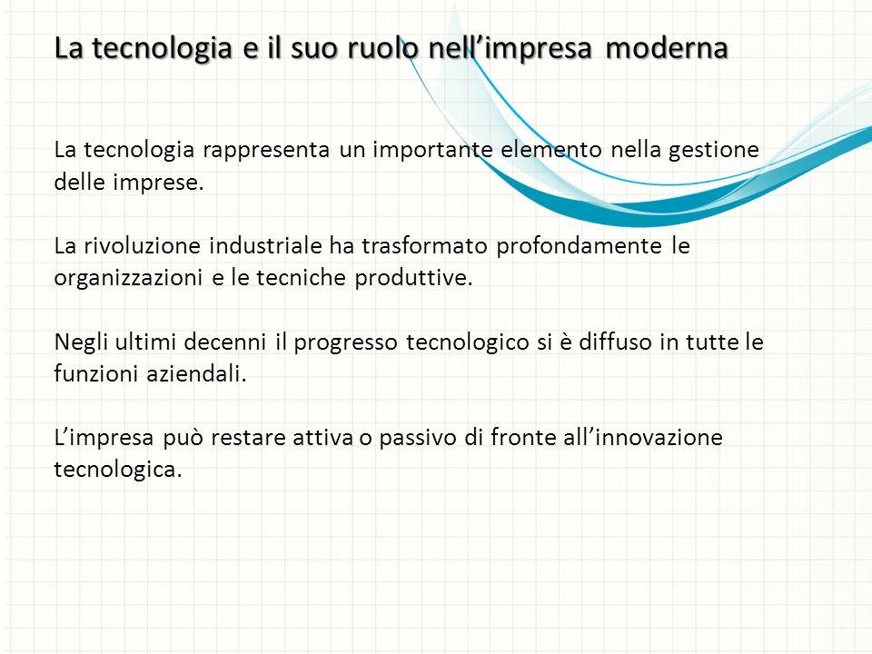 La tecnologia rappresenta un importante elemento nella gestione delle imprese.