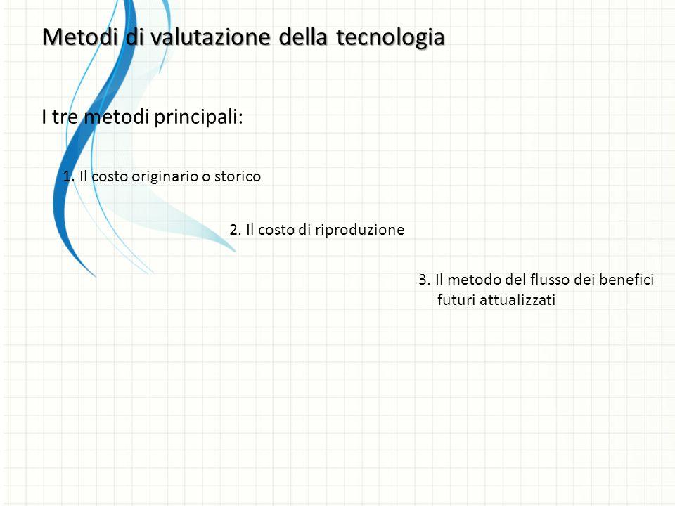Metodi di valutazione della tecnologia I tre metodi principali: 1.