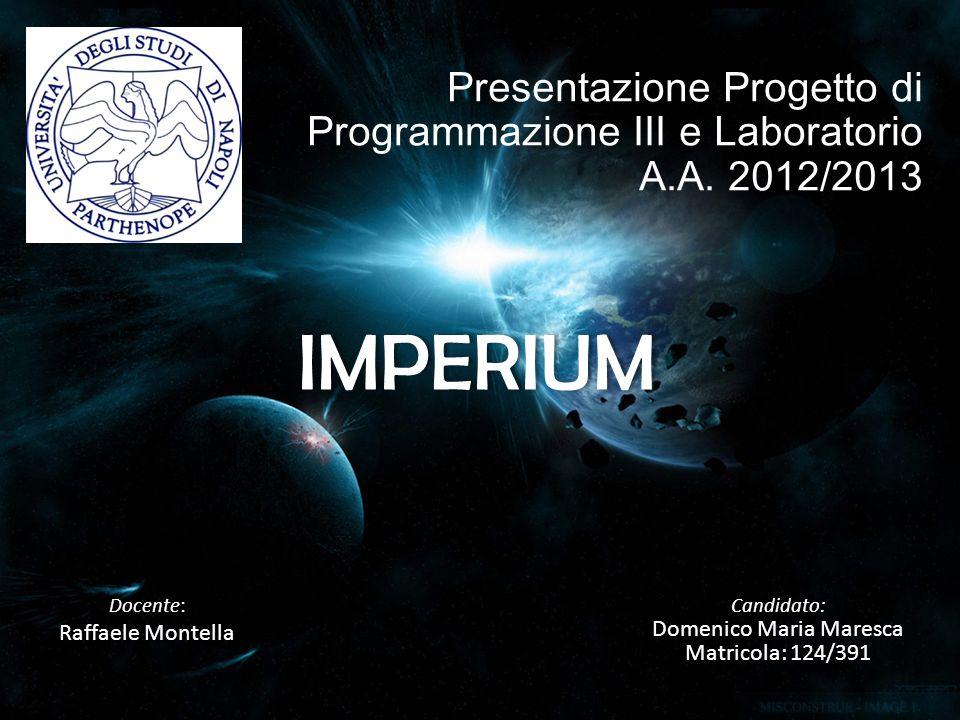 Docente: Raffaele Montella Candidato: Domenico Maria Maresca Matricola: 124/391 Presentazione Progetto di Programmazione III e Laboratorio A.A.