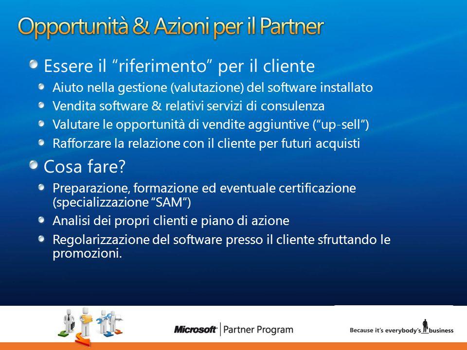 18 luca.DeAngelis@microsoft.com Essere il riferimento per il cliente Aiuto nella gestione (valutazione) del software installato Vendita software & rel