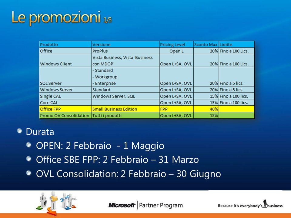8 Durata OPEN: 2 Febbraio - 1 Maggio Office SBE FPP: 2 Febbraio – 31 Marzo OVL Consolidation: 2 Febbraio – 30 Giugno 8