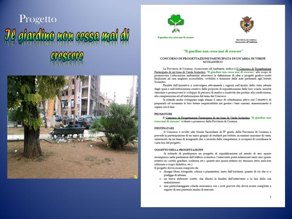 Progetto - Economia della cura - Principio di Responsabilità Ecologica - Gestione parsimoniosa delle risorse - Protezione della Biodiversità - Promozione della salute - Promozione del Ben-essere