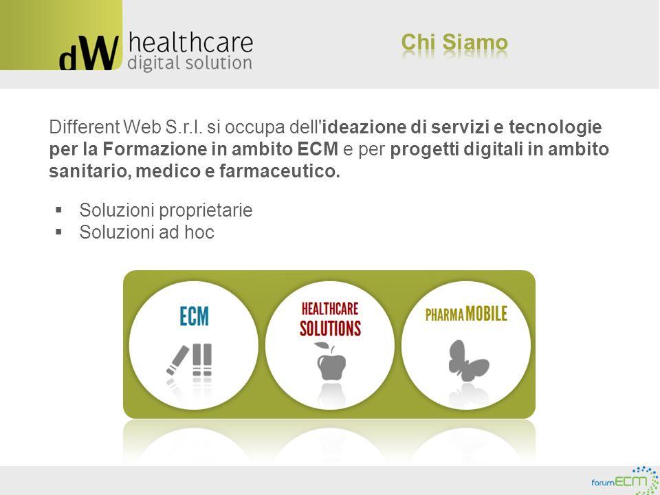 Different Web S.r.l. si occupa dell'ideazione di servizi e tecnologie per la Formazione in ambito ECM e per progetti digitali in ambito sanitario, med