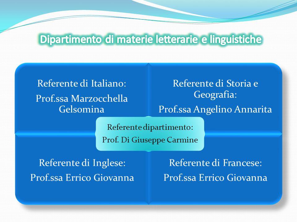 Referente di Matematica e Scienze: Prof.ssa DErrico Concetta Referente di Tecnologia: Prof.