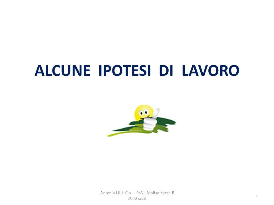 Antonio Di Lallo - GAL Molise Verso il 2000 scarl 7 ALCUNE IPOTESI DI LAVORO