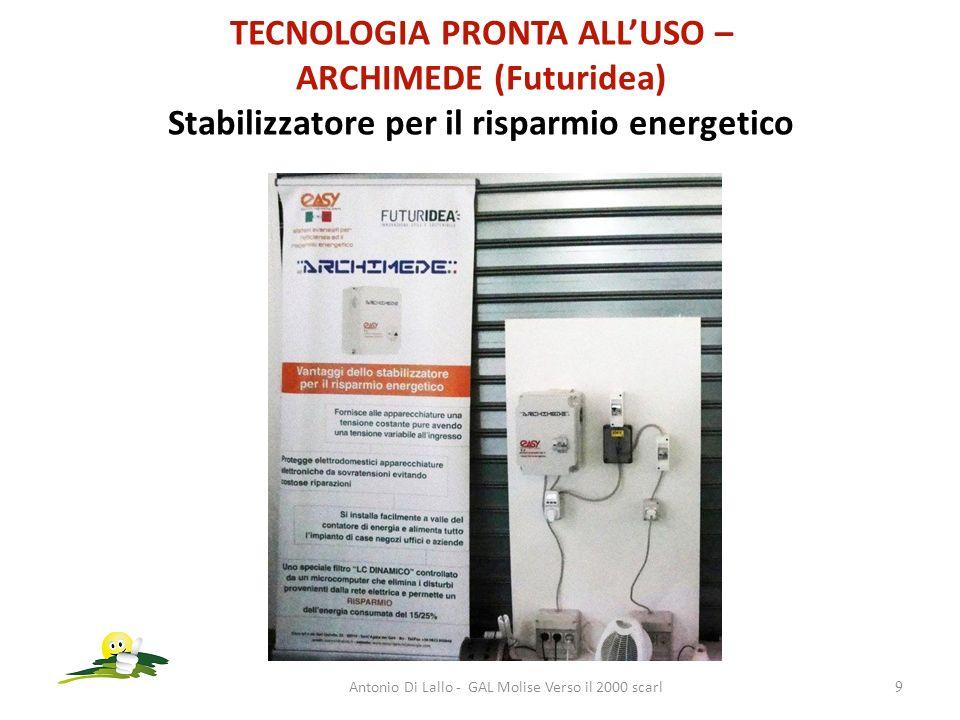 TECNOLOGIA PRONTA ALLUSO – ARCHIMEDE (Futuridea) Stabilizzatore per il risparmio energetico Antonio Di Lallo - GAL Molise Verso il 2000 scarl9